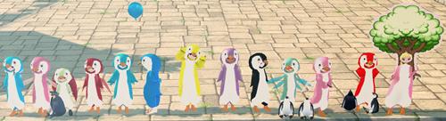 左端 2chダンバ ペンギン祭り PNG 2
